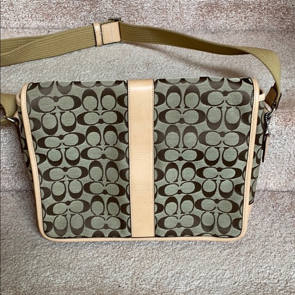 Coach Canvas and Leather messenger bag